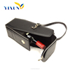 Fashionable style leather wine carrier, bottle leather wine carrier