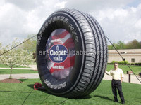 giant advertising inflatable tyre mascot