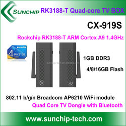 CX-919S Quad Core RK3188-T TV dongle 1.8GHz 2GB 8GB Bluetooth Android mini PC android 4.2 tv Dongle