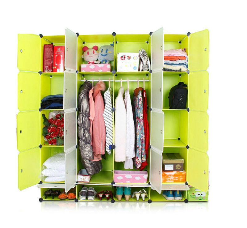 Plastic Portable Closet : Assemble plastic portable wardrobe closet folding