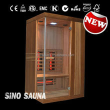 Full spetrum built-in infrared spa capsule sauna with best wooden Canadian hemlock