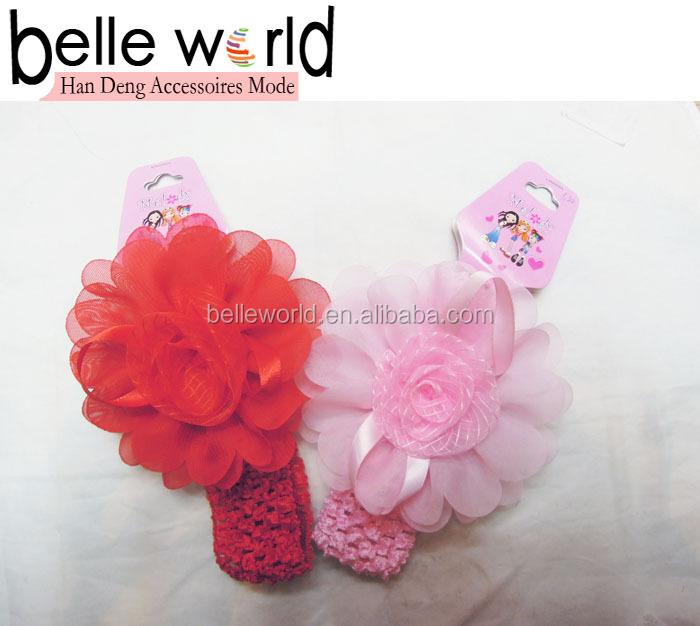 moda ucuz bebek çiçek tığ saç bandı