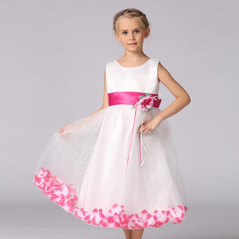 Kids Long Design Wedding Dresses Western Flower Girl Party Wear ...