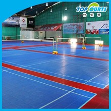 Durable indoor suspended volleyball rolled flooring