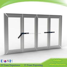 white color cheap 4 pane PVC open casement window