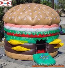 Pop Inflatable hamburger Bouncing games inflatable hamburger bouncer