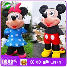 Good Quality!! giant inflatable lovely cartoon,stand cartoon character ,plastic cartoon characters