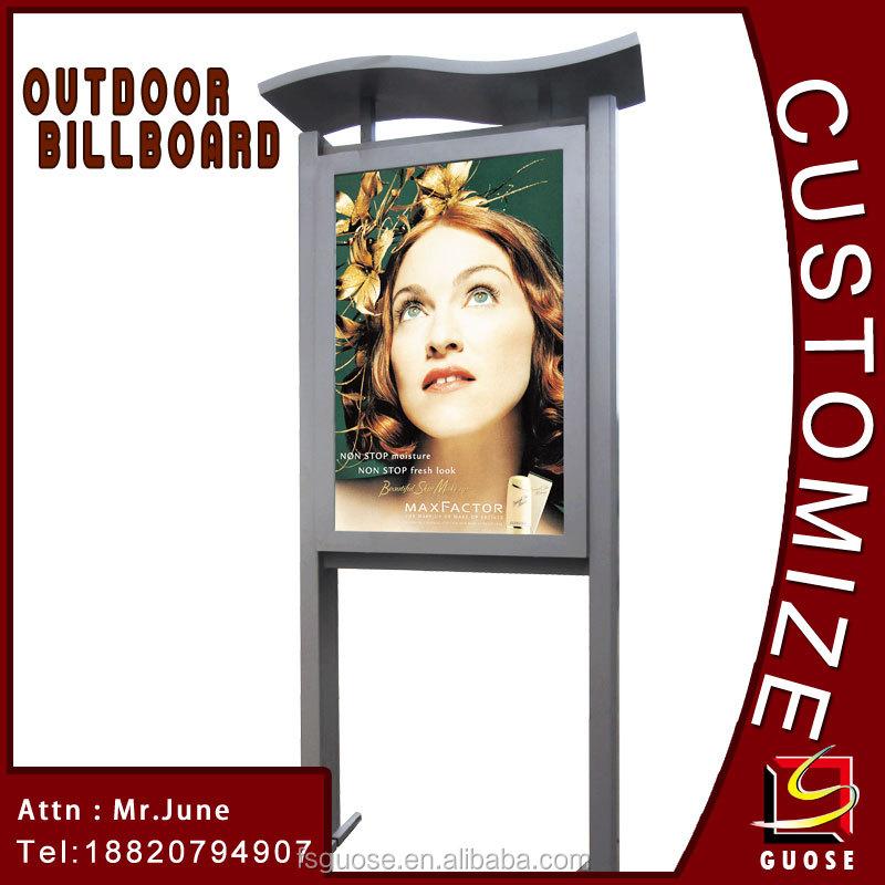 Exterior llevó el soporte de exhibición tela calle poste de la lámpara publicidad del tablero