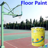 Floor paint- Multi color polyurethane out door weather proof basketball court sports floor painting