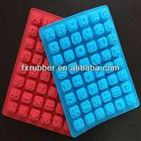 Combining letters numbers symbols silicone soap mould