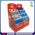 TSD-C3076 piso retail supermercado pantalla de papel cartón de pie taza de agua/ cartón visualización gradas botella de agua