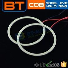 60mm 70mm 80mm COB Car Angel Eyes Light Headlight LED Halo Ring High Bright White