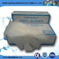 powdered L 4.5 grm vinyl gloves examination gloves transparent/blue gloves