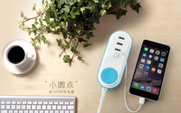 Mobile Accessories 5V 2A Travel 4 Port USB Charger For Mobile Phone
