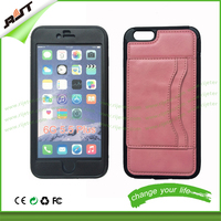 HOT New pink color for iPhone 6 6s phone cover with stand pu leather phone case