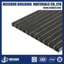 Customized easy-cleaning grooves inserted entrance floor mats for Commercial Places