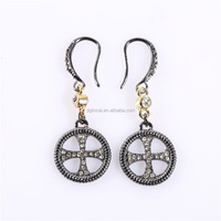 dangle charm hook earrings
