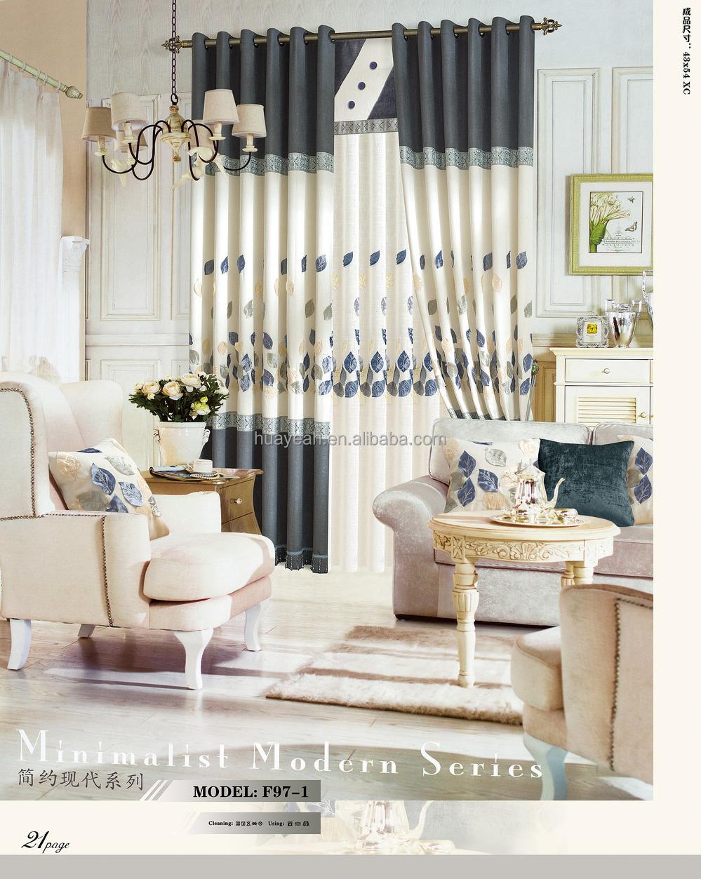 Simple feuille design nouveau modèle de rideau de fenêtre pour salon-Tissu  pour canapé-ID de produit:60189583664-french.alibaba.com