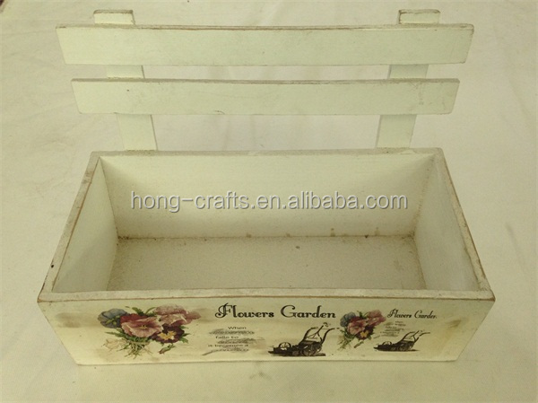 Hot Sale garden decoration flower box, shabby chic flower pot