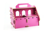 Fashionable portable hamster wooden house/carry-on convenient pet wooden house for hotsale