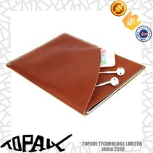 brown color business leather sleeve/pouch/bag for ipad air