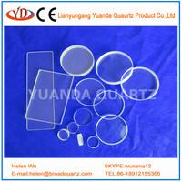 clear quartz glass plate high transmission