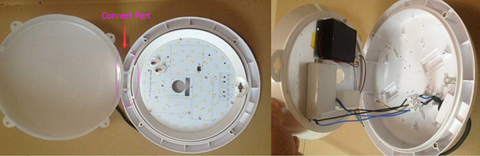 ip65 emergency sensor light 15w