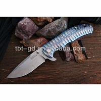 CPMS35VN steel blade ,anodizing titanium folding pocket knife