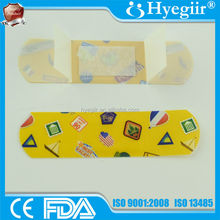 Bright color graphic designed child band aid with ISO, CE, FDA certificates