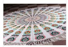 Star Mandala Hippie Round Beach Throw Indian Bohemian Hippie Cotton Handmade Table Cover Yoga Mat Beach throw Wall Hanging