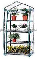 PVC Cover With Zipper Design Door 4 Tier Greenhouse