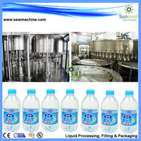 2015 new design 3 in 1 Aseptic automatic water bottled filler for plastic high quality CGF