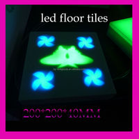 led floor tile light 4w 64pcs AC24V ip65 china supplier with w.white/rgb introcontrol