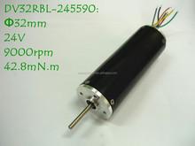 32mm 24V 9000rpm High Torque Low Noise Brushless DC Motor DV32RBL-245590