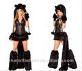 halloween gato negro trajes del sexo femenino uniforme tentación de vestuario