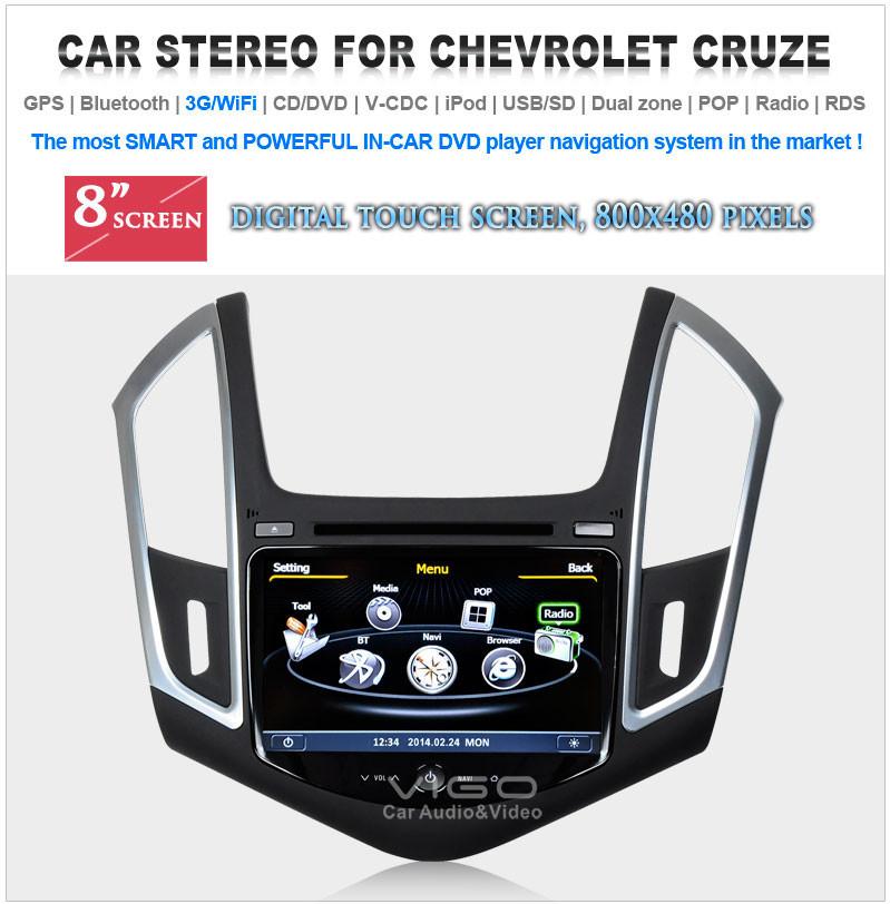 Автомобильный DVD плеер Chevrolet Cruze DVD Nav RDS Bluetooth A2DP GPS