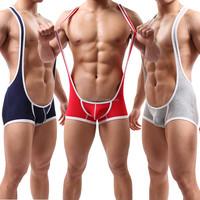Fashion Men's Clothing Boxers Trunks Sport Leotard Fitness Bodysuit