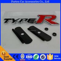 Custom Metal Grille Type R 3D Car Logo Typer Emblem