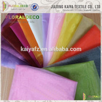 Polyester material wholesale colorful home decor organza crystal fabric