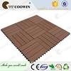 Outdoor Plastic Wood Floor Tiles/WPC DIY Deck floor