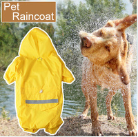50pcs NEW ARRIVAL wholesale reflective waterproof dog clothes, fashion large dog raincoat,dog clothes patterns DC-018