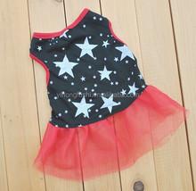 Wholesale Factory Dog Dress/The Puppy Veil Dress/Red Star Pet Dress