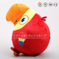 Custom made plush cheap parrots toys for sale