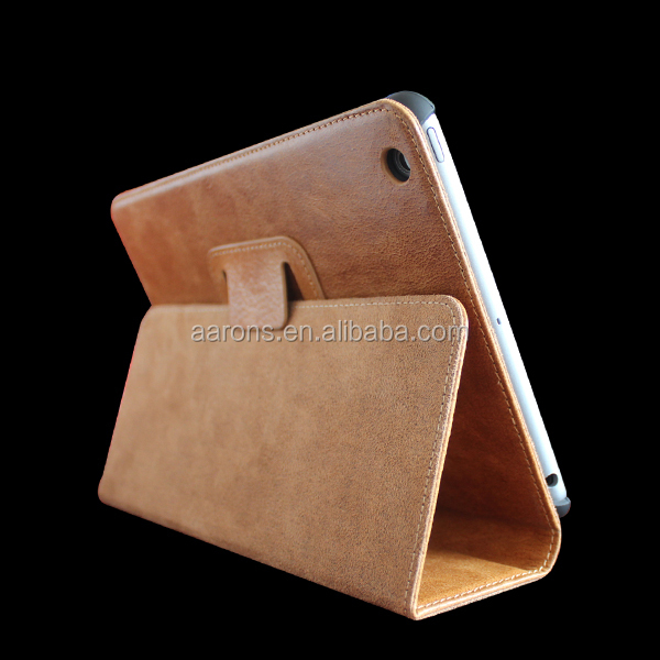 2014 new products For Leather iPad Case For iPad genuine leather case