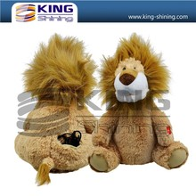 OEM service hot style animal lion toys, musical and dance plush toys for gifts.