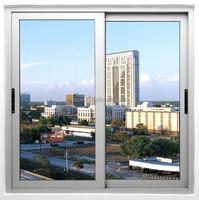 sliding window with double tempered glass aluminum profile small sliding windows