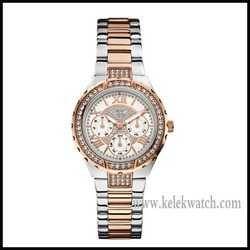 Diamond Women's W0111L4 Sparkling Hi-Energy Silver- And Rose Gold-Tone Watch