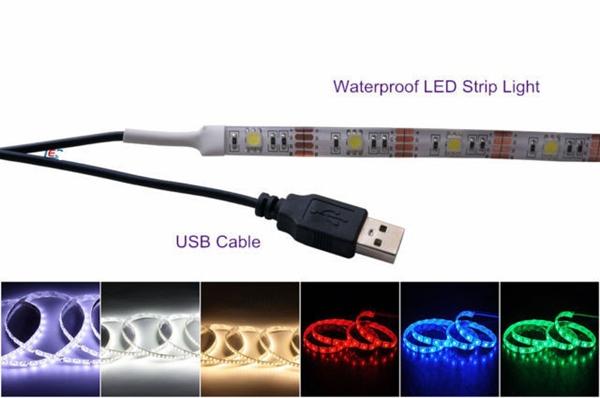 Micro usb cable led strip light 3528 5V led strips