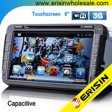 "Erisin ES9401A 8"" Android Car DVD GPS OPS WiFi 3G RDS Scirocco Polo V 6R"