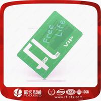 Free sample MIFARE Classic 1K transparent visiting cards